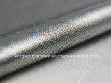 Poliéster Anti-UV Inherentemente Fire Retardant Fireproof Metallic Silver Lurex Tecido