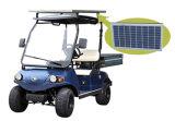 Бункерная вагонетка груза места тележки 2 груза электрическая с панелью солнечных батарей