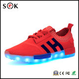 2016 Factory Wholesale Unisex Women Men USB Charging Light Flashing Sneakers LED Shoes