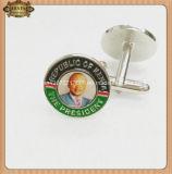 男性Cufflinks SilverおよびFull Printing Image、Brass Cuff Link (JINJU16-011)のGold Cufflinks