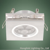 Techo ahuecado clasificado fuego de aluminio cuadrado LED Downlight de 3W LED
