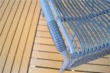 Meubles extérieurs en osier en aluminium de tissage synthétiques de PE chaud