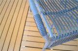PE caliente sintético Tejido de aluminio muebles de mimbre al aire libre