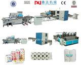 Papel higiénico/toalha de cozinha automáticos cheios que converte a linha de produção da máquina