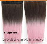 方法毛の拡張の長くまっすぐな拡張毛部分そしてクリップ