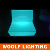 Sofa neuf moderne de plastique d'éclairage LED de modèle