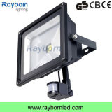 PIR Motion Sensor LED Floodlight 20W imperméable à l'eau portable Rechargeable Work Light