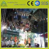 Rendimiento hexagonal iluminación de la etapa de aluminio Círculo braguero concierto