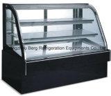 Degelar o refrigerador de vidro traseiro comercial do indicador do bolo das portas do sistema