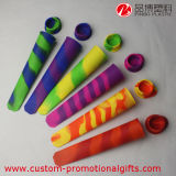 Rainbow Assorted Colored Silicone Ice Pop Maker con Attached Lids
