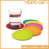Подгонянная циновка кружки чашки силикона логоса для выдвиженческих деталей (YB-n-001)