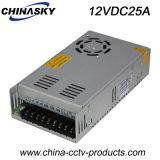 fuente de alimentación de la conmutación de 12VDC 25A para el sistema del CCTV (12VDC25A)