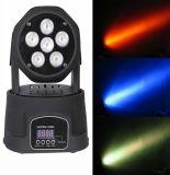 Lumière colorée de lavage de la qualité 6PCS DEL de DMX