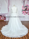 Длиннее платье венчания шнурка выпускного вечера втулки