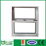 Het Venster van het aluminium|Het Enige Gehangen Venster van het aluminium met Verglazing Pnoc0056shw