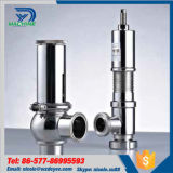 Soupape de sûreté hygiénique de desserrage de pression de canalisation d'acier inoxydable