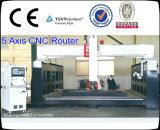 Máquina do router do CNC do molde de 5 linhas centrais