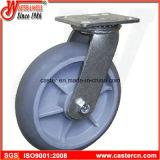 Rodízios do giro do TPE TPR de 4 polegadas de 6 polegadas com rolamento de rolo