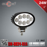 6 인치 24W Round LED Car Work Driving Light (SM-6024-RXA)