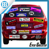 Teste padrão do costume e etiqueta diferentes do corpo de carro do vinil da cor