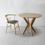 Tabella pranzante di alta qualità di legno solido della sala da pranzo della mobilia