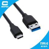 컴퓨터 셀룰라 전화 또는 힘 은행을%s C 3.0 USB 데이터 케이블을 타자를 치십시오