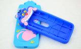 caja del teléfono del silicón de la historieta del tigre 3D para el iPhone/Samsung/LG (XSD-030)