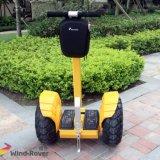 Dos ruedas fuera de la carretera la motocicleta eléctrica de la vespa de Segway