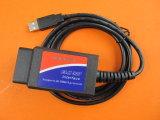 Scanner d'automobile du lecteur de code d'OBD 2 Elm327 USB