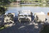 Insieme esterno sezionale del sofà di Seater del rattan tre della fabbrica di alluminio del blocco per grafici