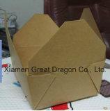 Weiß außen und natürlicher/Kraftpapier-Innenpizza-Kasten (PIZZ-017)