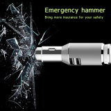 2016 nuevo USB Car Charger de Safety Hammer 2 con Bluetooth Earphone para Cell Phone