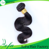 Preto popular e cabelo humano peruano do Ponytail de Brown Remy