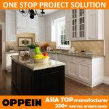 Keukenkast van het Project van Oppein de Witte Stevige Houten Modulaire (OP14-S00)