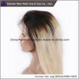 Due parrucche della parte anteriore del merletto della parrucca dei capelli umani di colore