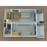 Solos rápidos instalan la casa móvil del envase del panel de emparedado del EPS