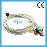 Cable del terminal de componente ECG de la una sola pieza 6 de Corpuls 3 con los Leadwires