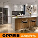 De moderne U-vormige Kabinetten van de Eenheden van de Keuken van de Melamine van de Lak Houten Modulaire (OP16-L05)