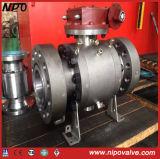 API 6D Válvula de bola fija de acero forjado con brida