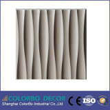 Waterproof decorativo Bathroom 3D Wave Wood Wall Panel