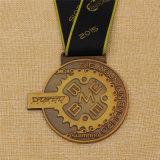 Ha annunciato la medaglia di bronzo dell'argento dell'oro di rivestimento antico del metallo