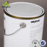 Cubeta pintada costume do metal do produto comestível para o pó de leite que empacota 5L