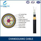 El cable de la fibra de ADSS todo el dieléctrico Uno mismo-Utiliza el cable óptico al aire libre de fibra óptica de fibra del cable óptico del solo modo del miembro de fuerza del hilado de Aramid del cable de Ing