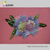 Tela química do laço do colar colorido da flor 003