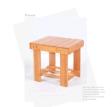 Cadeira de madeira da mini cadeira de bambu da cadeira do miúdo