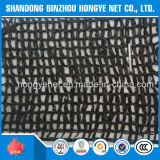 Sujetar con cinta adhesiva la red negra 100% de la cortina del HDPE 70g Sun de la Virgen del hilado