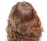 형식 여자 당 섹시한 긴 컬 브라운 새로운 Cosplay 머리 가득 차있는 레이스 가발