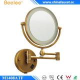 Miroir fixé au mur de salle de bains de renivellement de DEL avec 3X magnifiant