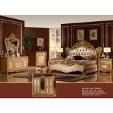 Het klassieke Meubilair van de Slaapkamer dat met Antieke Bed en Garderobe (W806A) wordt geplaatst