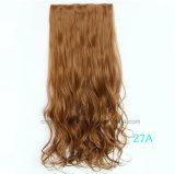 I capelli ricci caldi delle cinque clip Non-Seguono la clip di capelli del chip della ricevente nelle estensioni